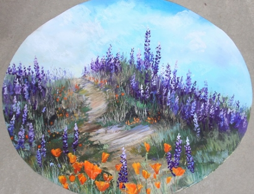 Munz Road Lupine and Poppies Oval