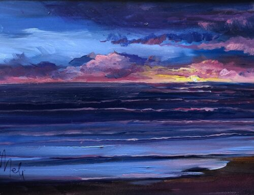 Mini Oil- Cambria Sunset 1