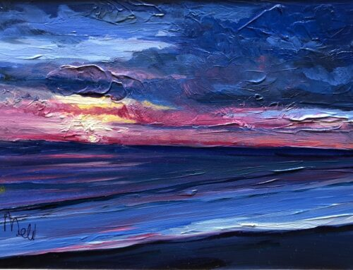 Mini Oil- Cambria Sunset II