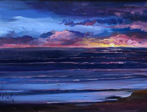 Mini Oil- Cambria Sunset 1