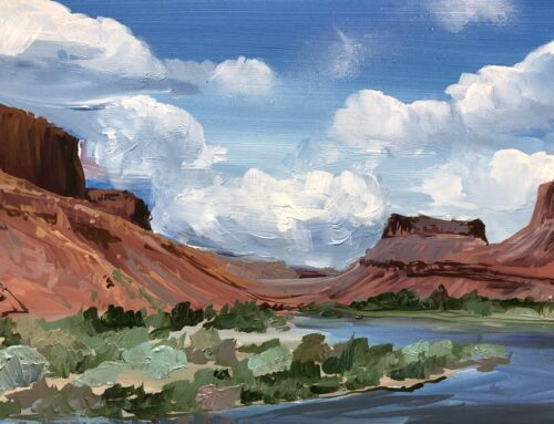 Colorado River East of Moab mini oil